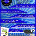 "Record Store Day and our 2nd ""Re-Birthday"" weekend sale. April 18-19-20, 2015."