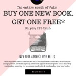Buy one new book, get one FREE!