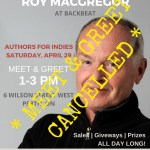 Authors for Indies – Author Meet & Greet Cancelled