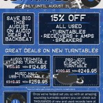 Get AMPED at Backbeat! Big Sale on Audio Gear.