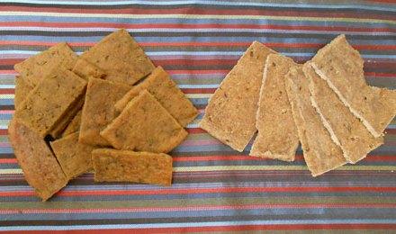 Rosemary Garlic Plantain Crackers