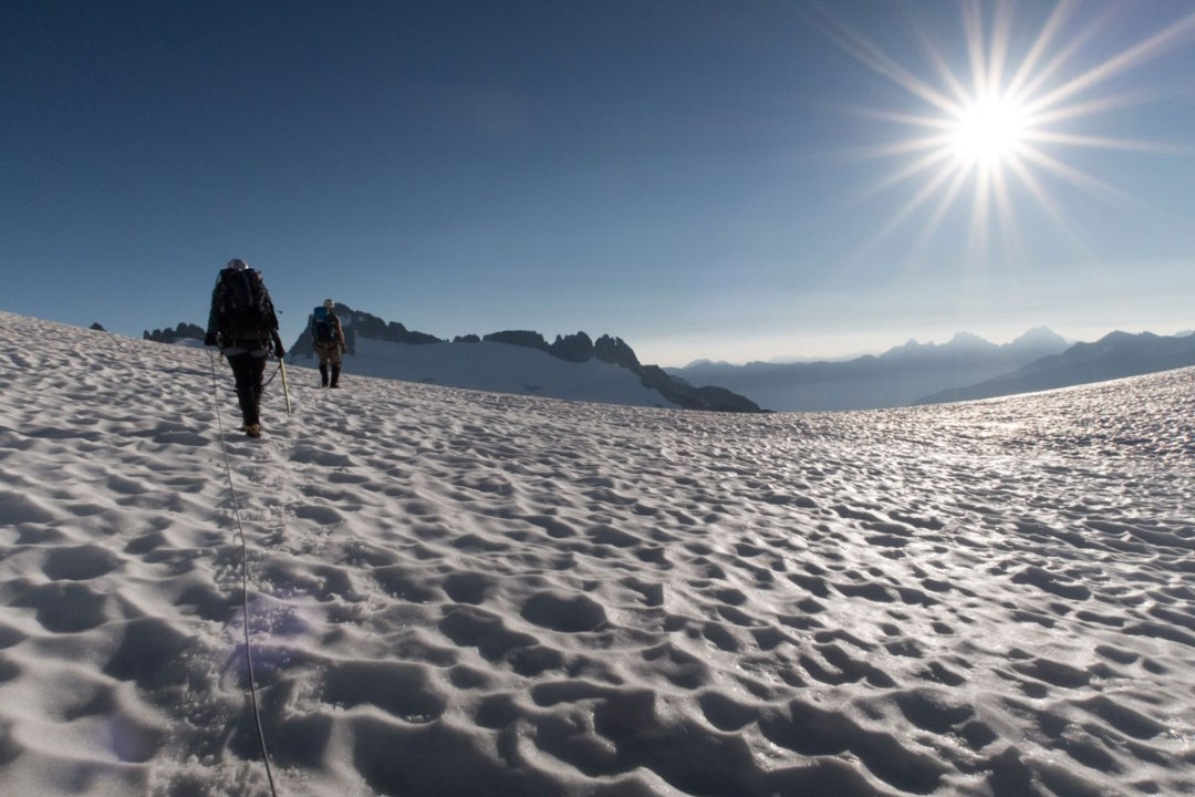 summer 2015: walking on the Inspiration Glacier in the North Cascades. that's me in the back.