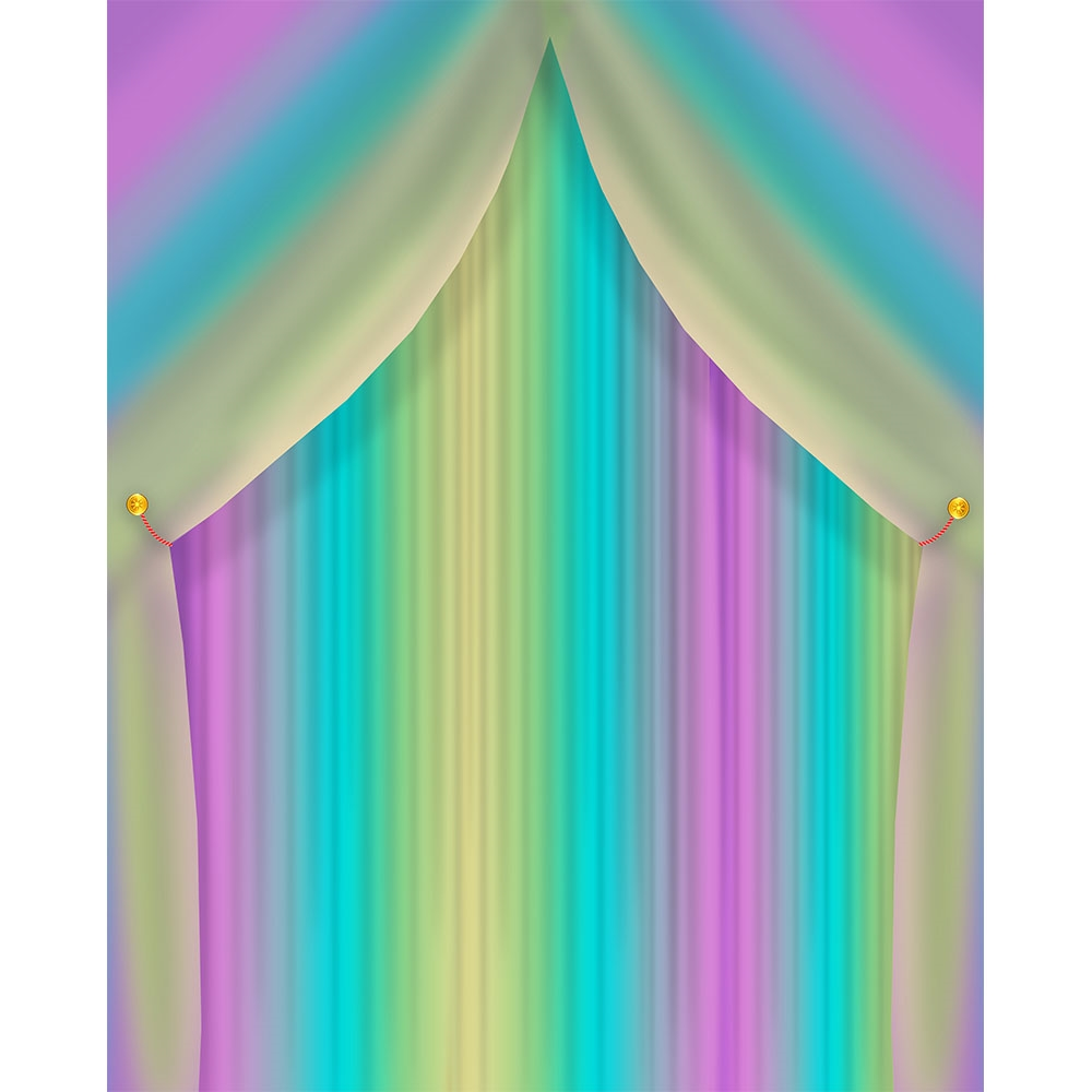 Rainbow Curtain Printed Backdrop Backdrop Express