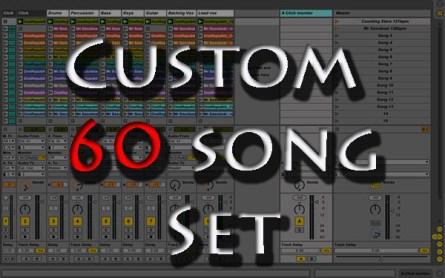 Custom backing tracks 60 song