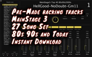Pre-Made backing tracks MainStage 3 27 Song Set 80s 90s and Today Instant Download
