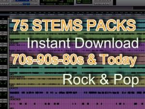 backing tracks STEMS PACKS