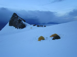 Tents at Mount Rainier base camp.