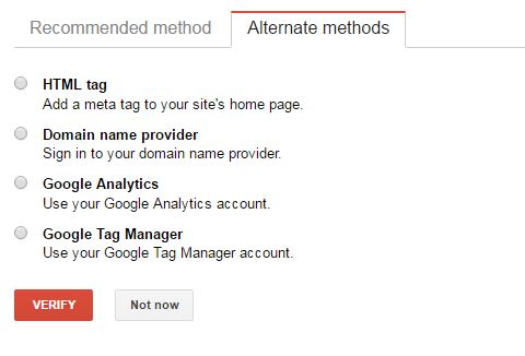 Add Wordpress in to Google Search Console