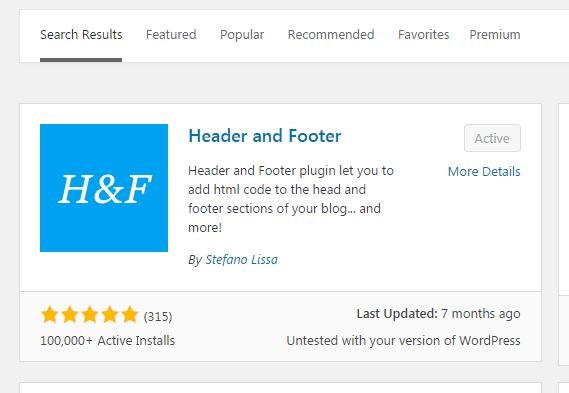 heder and footer wp plugin