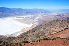 Vue sur la Vallée de la Mort