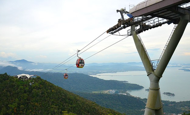 Le CableCar en direction du SkyBridge de Langkawi