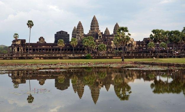 La vue du jardin de Angkor Wat