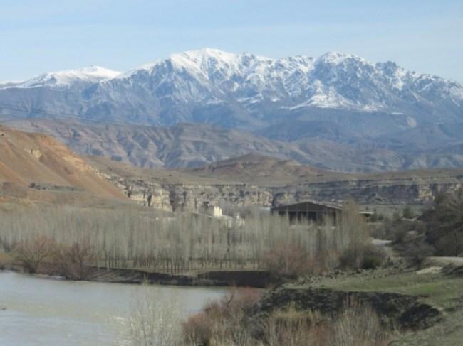 Dogu express scenery from Ankara to Erzurum and Kars in Turkey