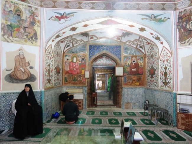 The shrine inside Ali mosque in Isfahan n Iran