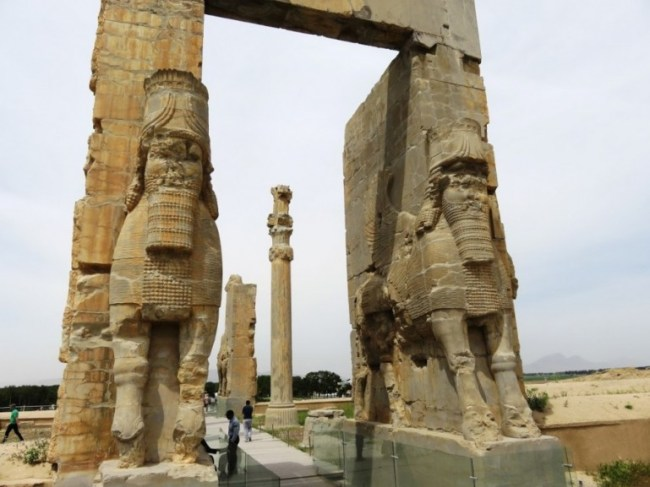 the entrance gate at Persepolis