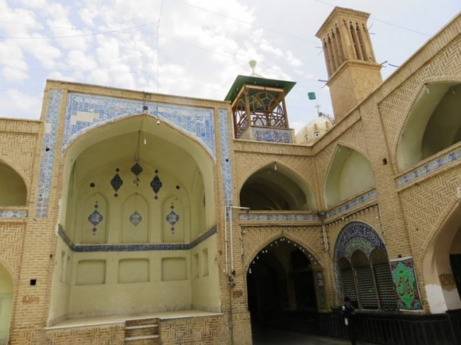 a mosque in the old bazaar in Nain near Yazd Iran