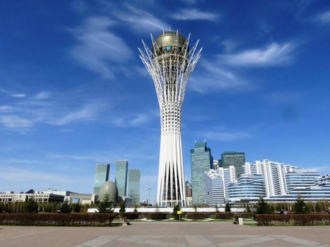 The bayterek tower in Nursultan (Astana)