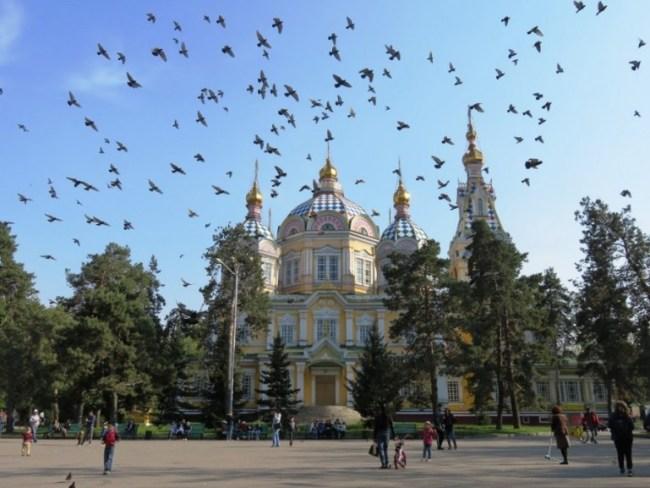 Zhenkov Cathedral in Almaty Kazakhstan