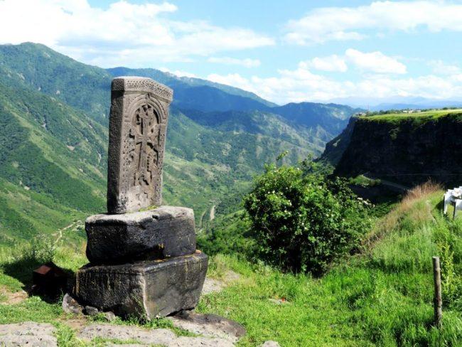 A kachkar in the Debed Canyon in Armenia