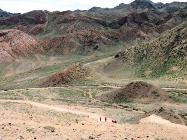 Green rolling hills in Kazakhstan