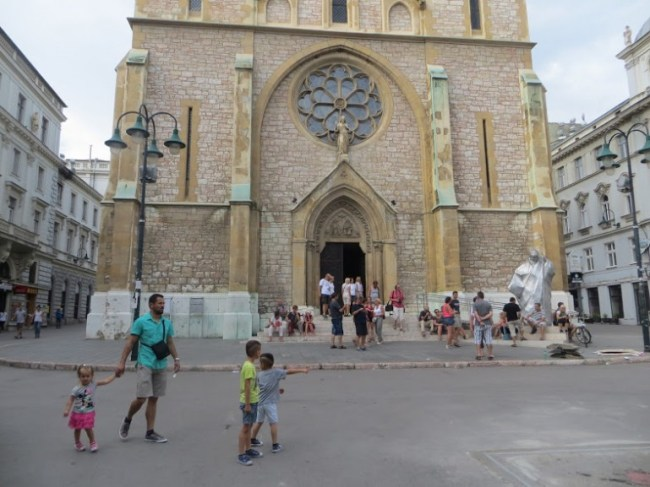 Sarajevo cathedral in Sarajevo Bosnia