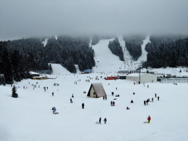 Bjelasnica and Olympic Mountain in Sarajevo Bosnia