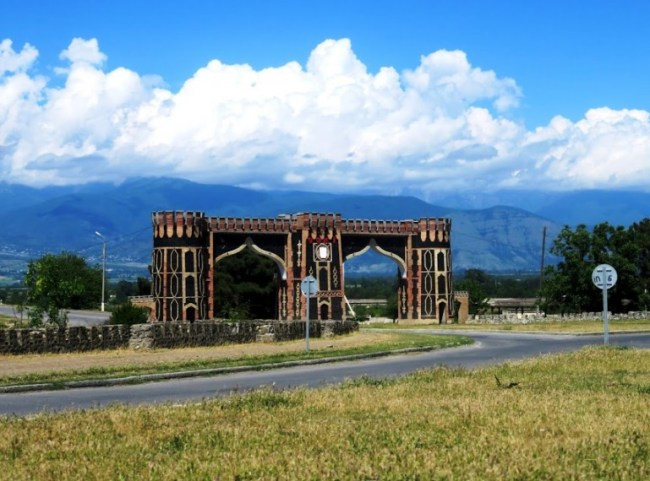 Entrance gate to Sheki