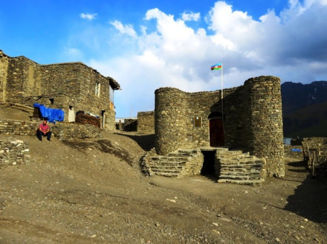 A castle in Xinaliq, Khinaliq, Khinalug