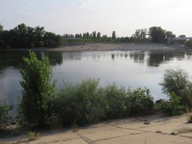 Dniestr river in Tiraspol