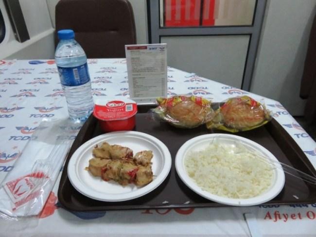 Dogu express: food at restaurant wagon at Dogu ekspresi