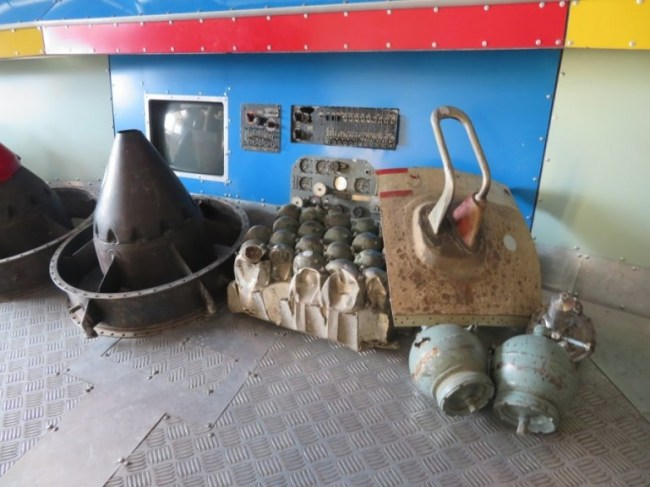 Space debris in the ecological museum in Karaganda