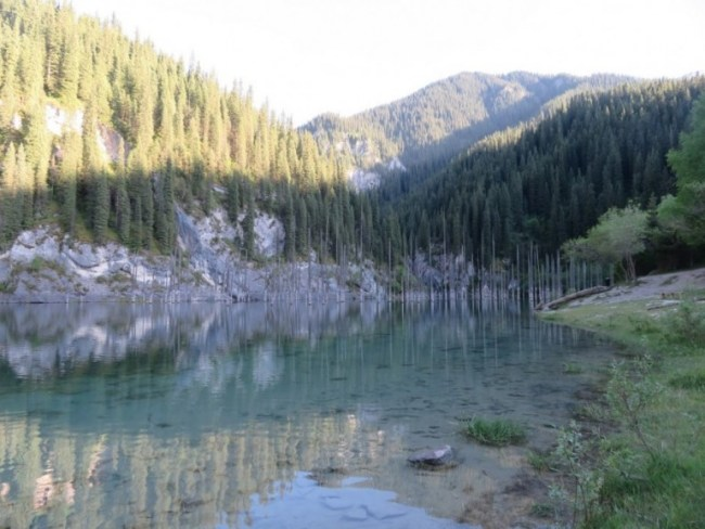 Kaindy Lake in Kazakhstan