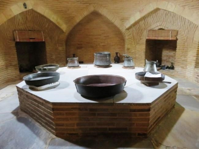 The ancient bath house at the Yasaui mausoleum in Turkestan Kazakhstan