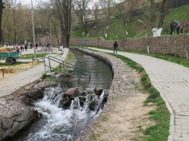 Koshkar Ata River park in Shymkent