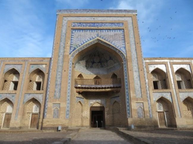 Madrassah in the old town of Khiva Uzbekistan