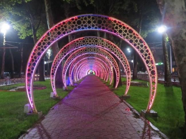 Rudaki avenue in Dushanbe Tajikistan