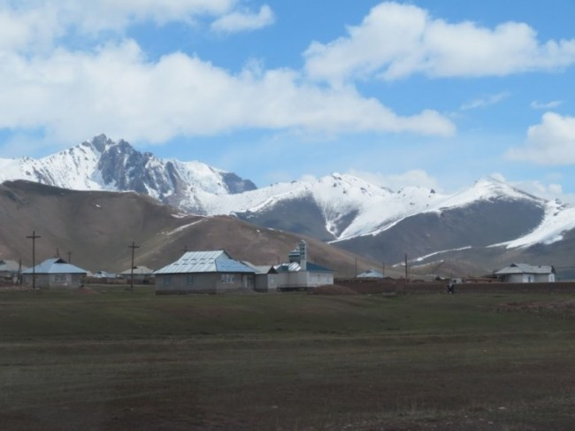 Sary Mogul village in the Alay valley in Kyrgyzstan