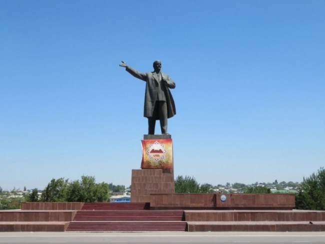 Lenin statue in Osh Kyrgyzstan