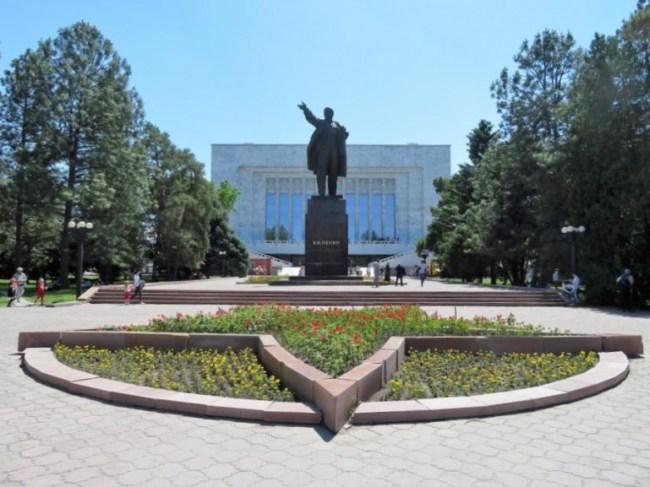 Lenin statue in Bishkek Kyrgyzstan