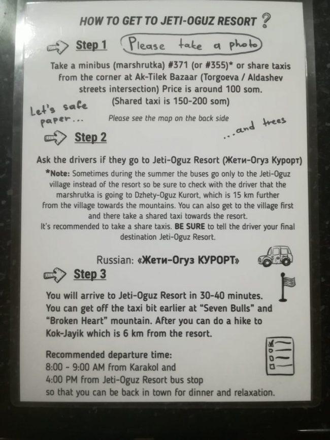 how to get to Jeti Oguz