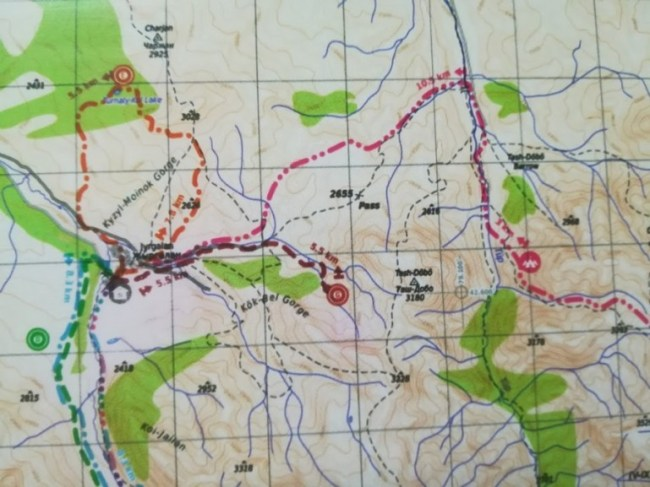 Hiking routes in Jyrgalan Kyrgyzstan