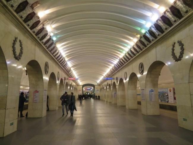 Technologicheski institut metro station on the St Petersburg metro tour