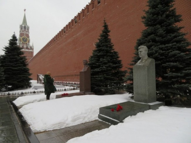 Necropolis wall at the Red Square in Moscow