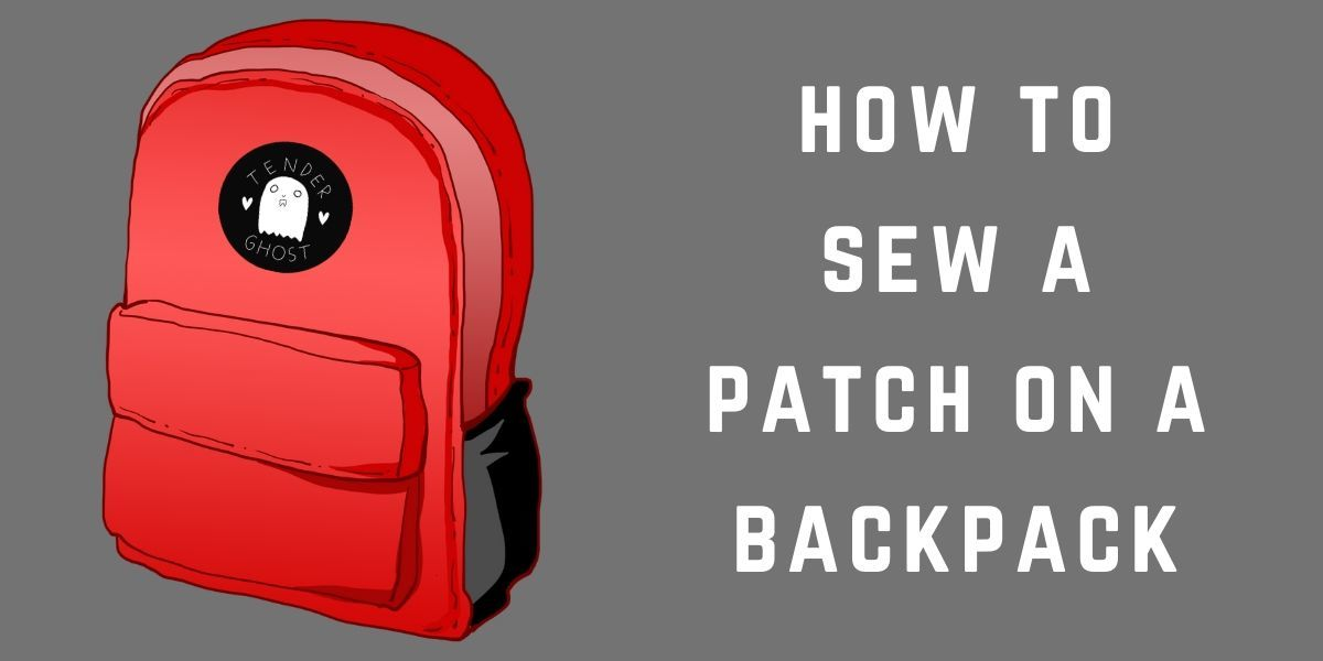 how to sew a patch on a backpack