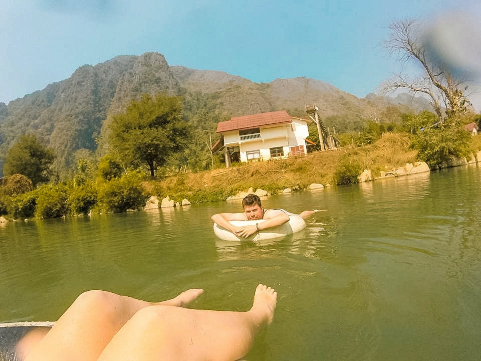 River Tubing In Laos | River Tubing In Vang Vieng | What to do in Vang Vieng | Adventure | Backpack South East Asia | Travel | Backpacking | Must Visit | Do Not Miss | Laos | Tubing | Nam Song River | Adventure | Photography | Backpackers Wanderlust | #laos #vangvieng #tubing #rivertubing #adventure