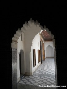 A palace doorway in Morocco.