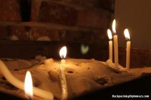 Candles at church