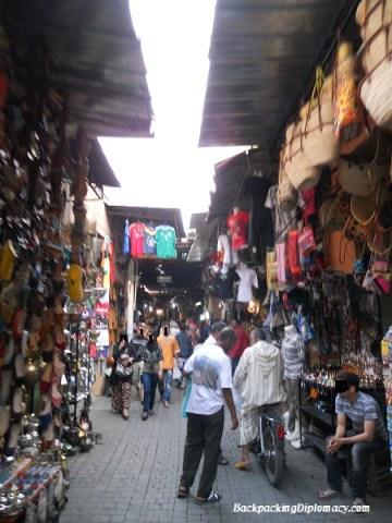 Walking through the Moroccan markets.