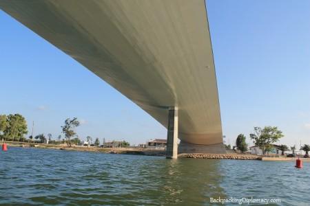 Bridge in Deltebre from my kayak