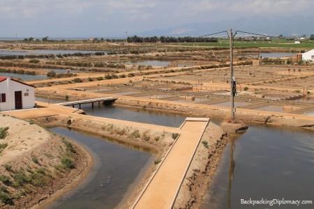 las salinas delta del ebre espana